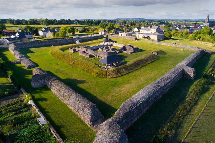 Site antique de la ville de Jublains en Mayenne