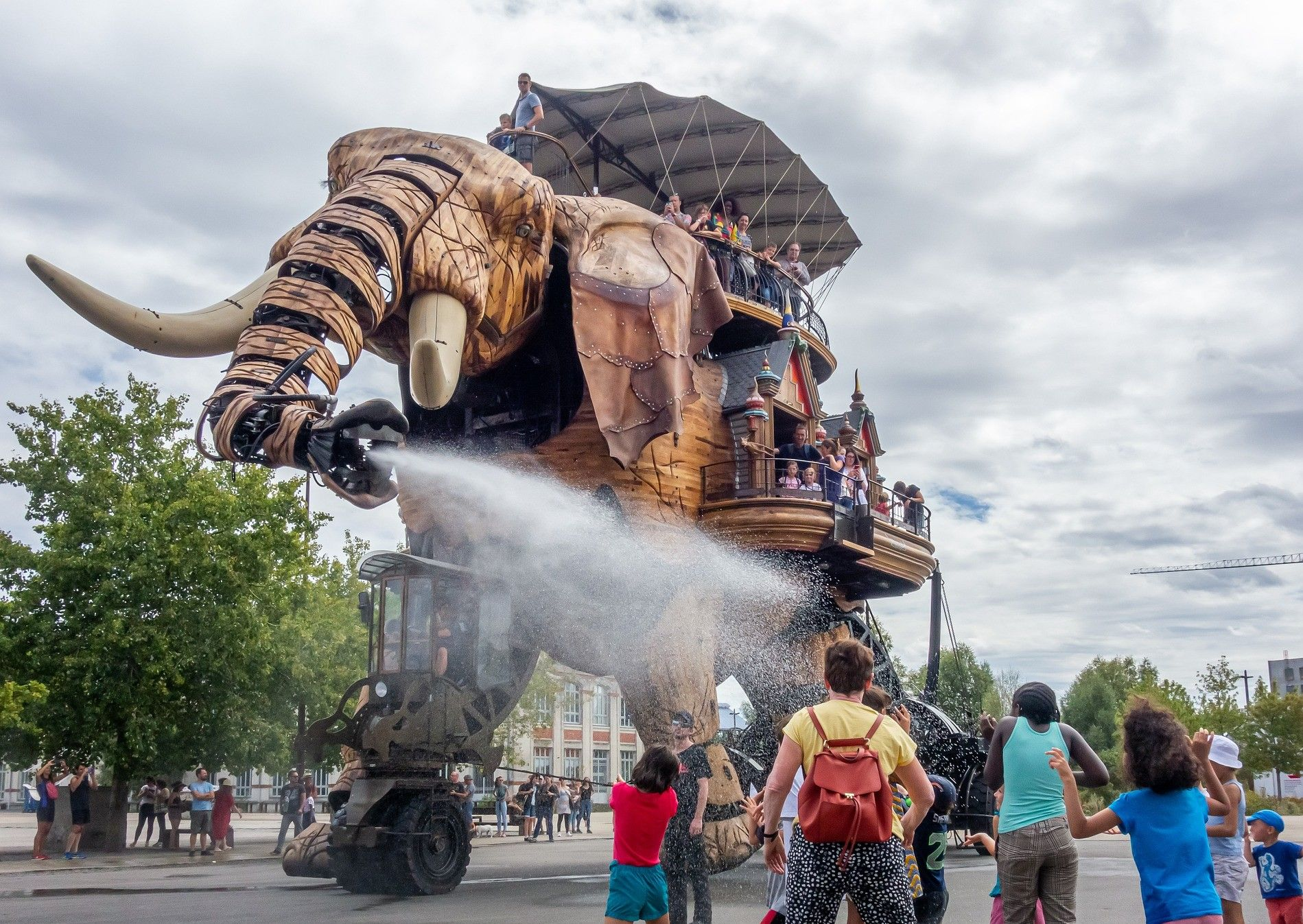 Eléphant des machines de l'île de Nantes, en Loire-Atlantique