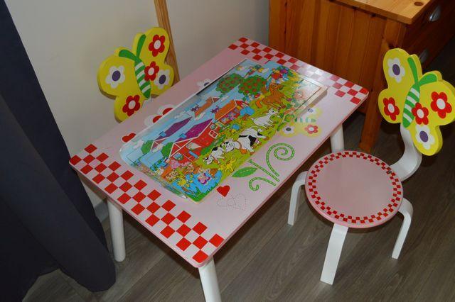 Table et chaises pour les enfants