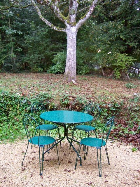 Terrasse et table