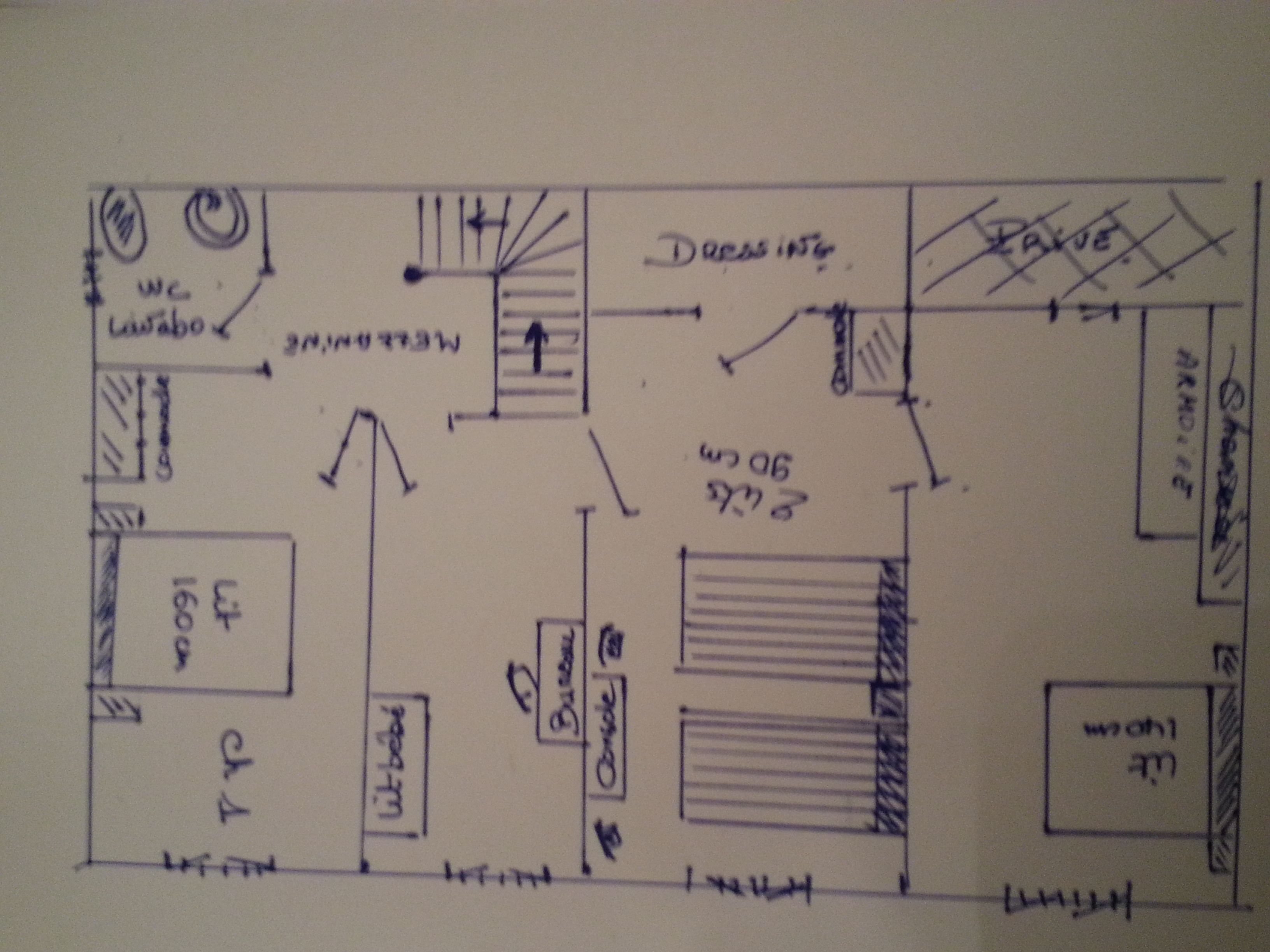 plan de la maison 1er étage