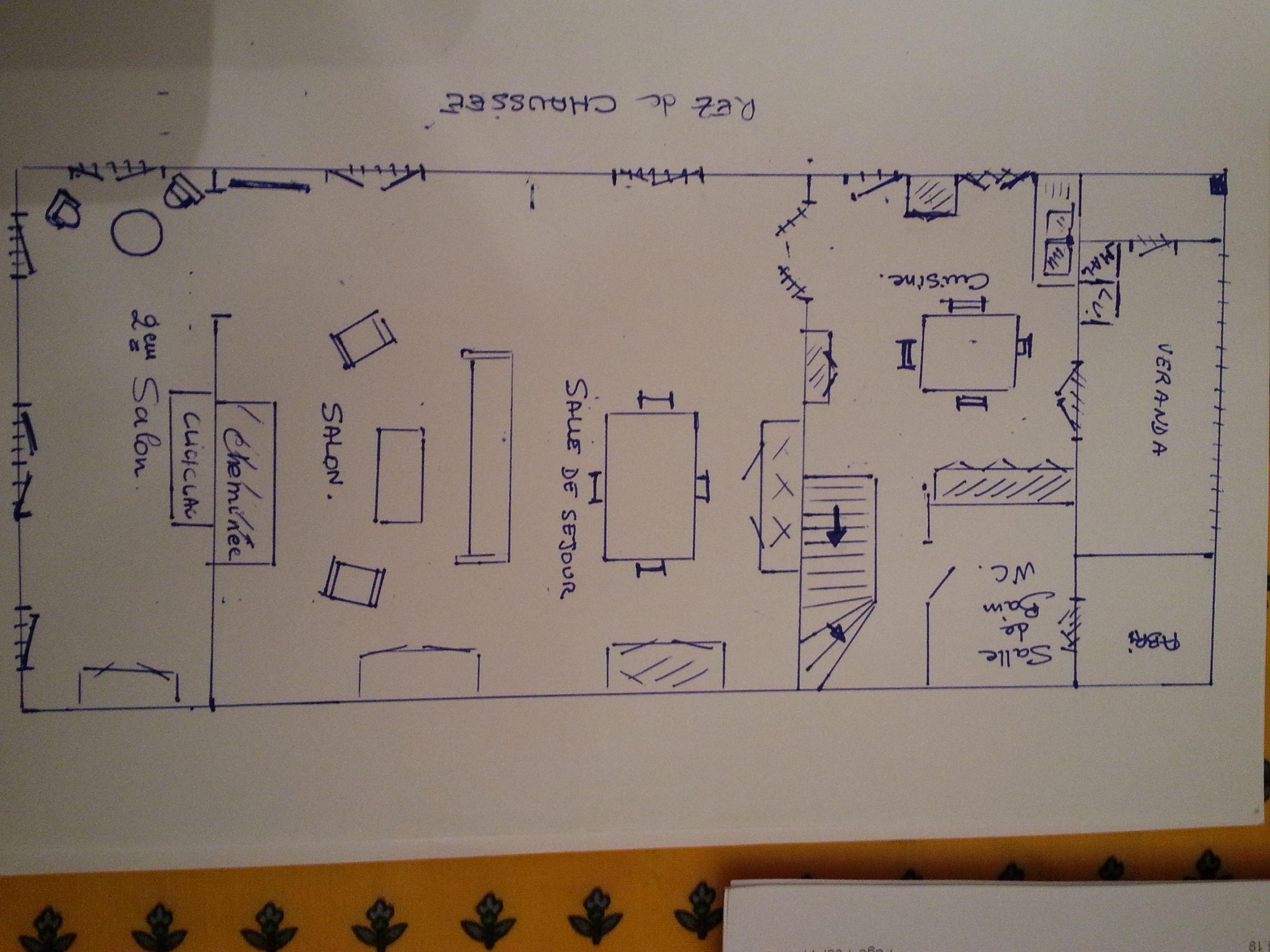 plan de la maison rez de chaussée