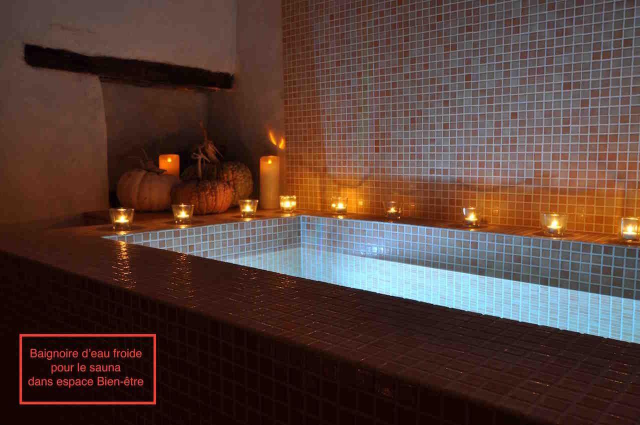 Bain d'eau froide du Sauna dans espace Bien-être (en option)