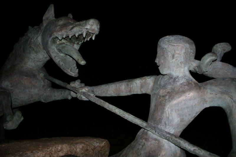 la bête du Gévaudan à Auvers
