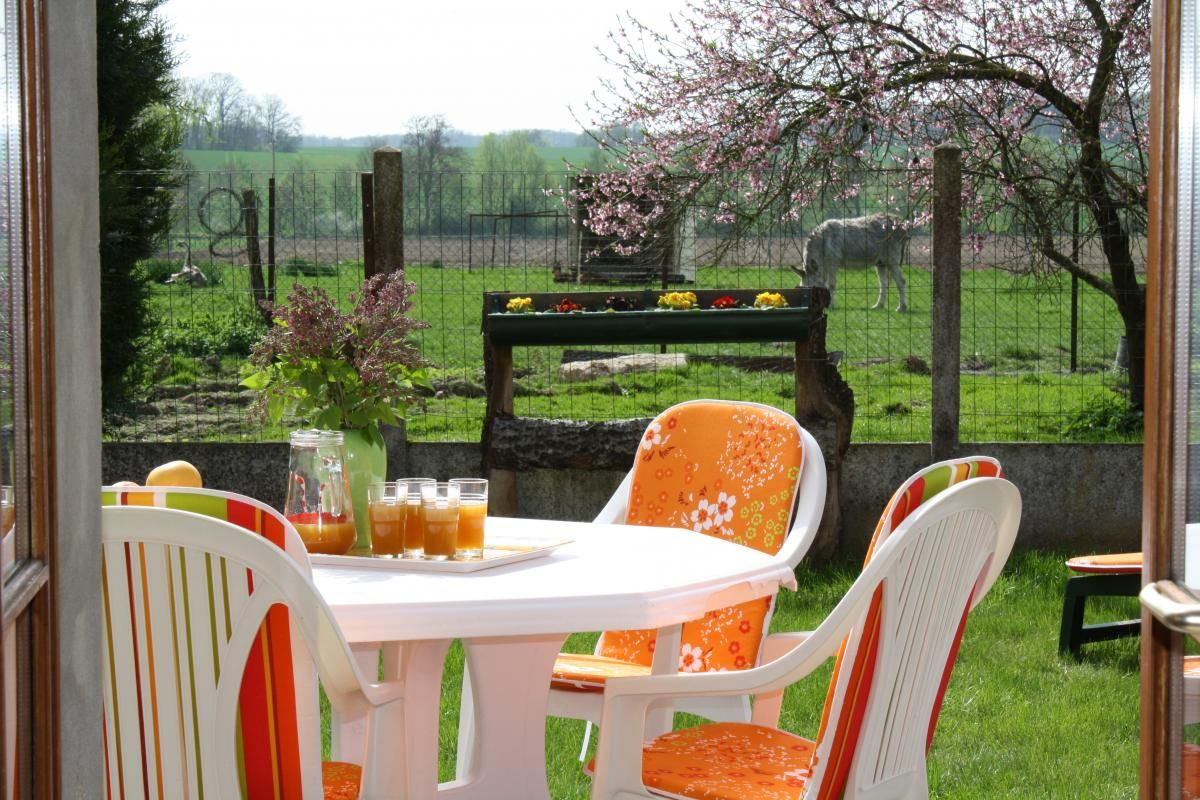 terrain clos, terrasse, pelouse 51G265 - La Petite Ferme - Margny - Gîtes de France Marne