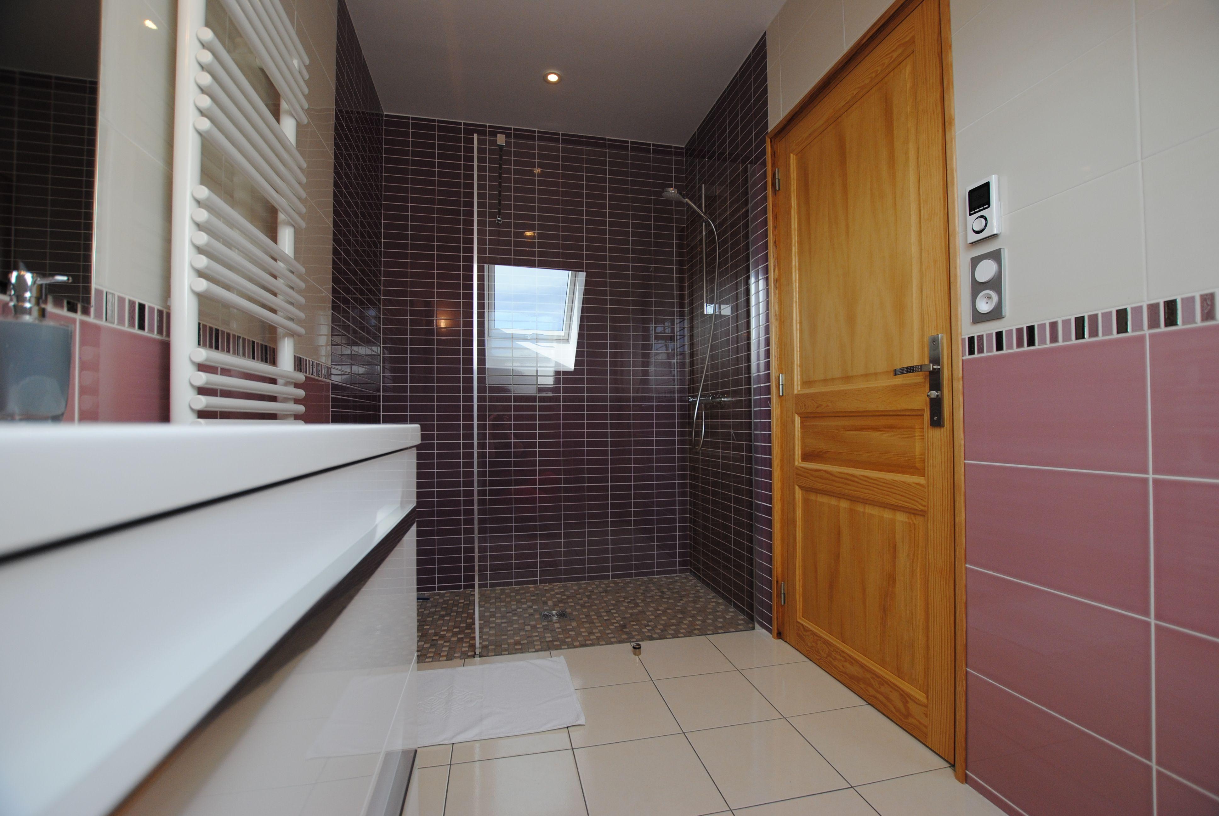 51G496 - Igny Comblizy - L'Epi Doré - Salle d'eau privative à la chambre mauve