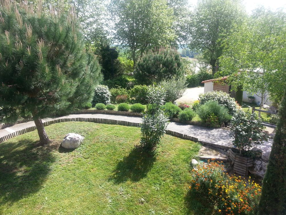 Rampe d'accès au jardin