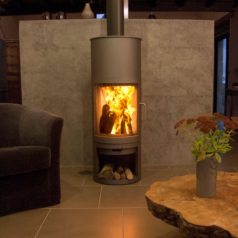 poêle à bois en complément du chauffage central