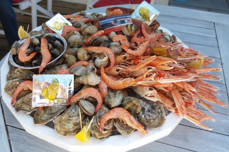 plateau de fruits de mer en direct de Fromentine