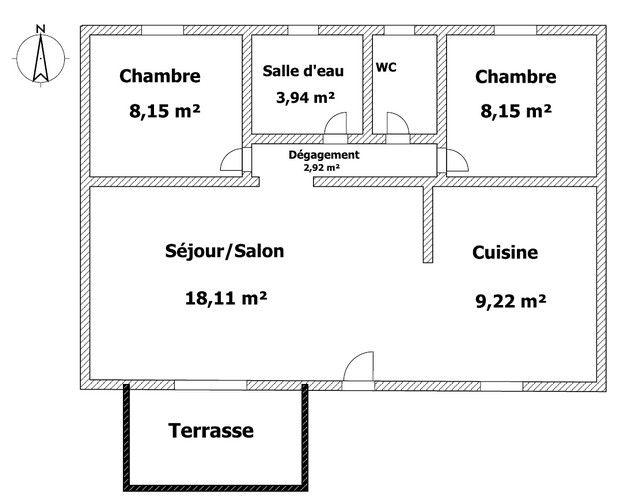 plan intérieur du gîte
