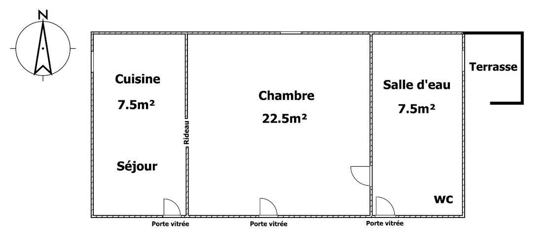 Plan de La Bourrine.