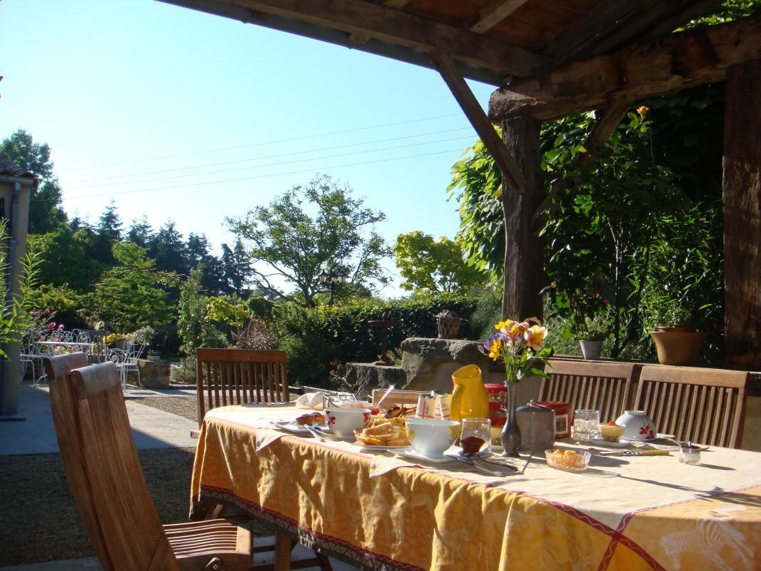 Petits déjeuners servis en terrasse