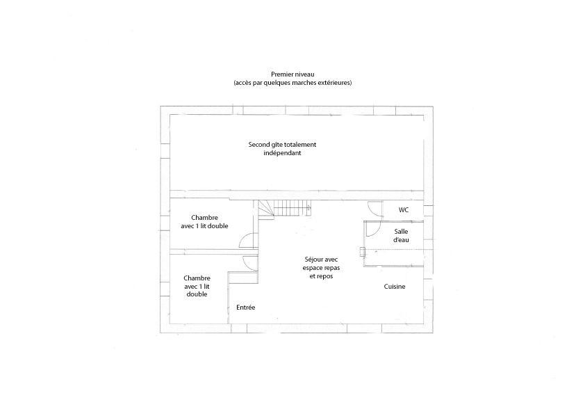 Plan du 1er niveau donné à titre d'information