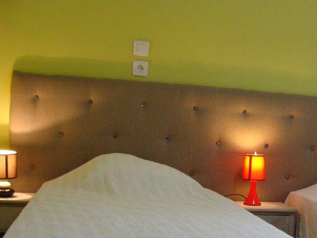 La chambre au premier niveau avec 2 lits de 90x200