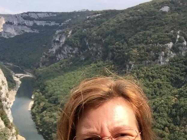 Selfie au dessus des gorges de l'Ardèche