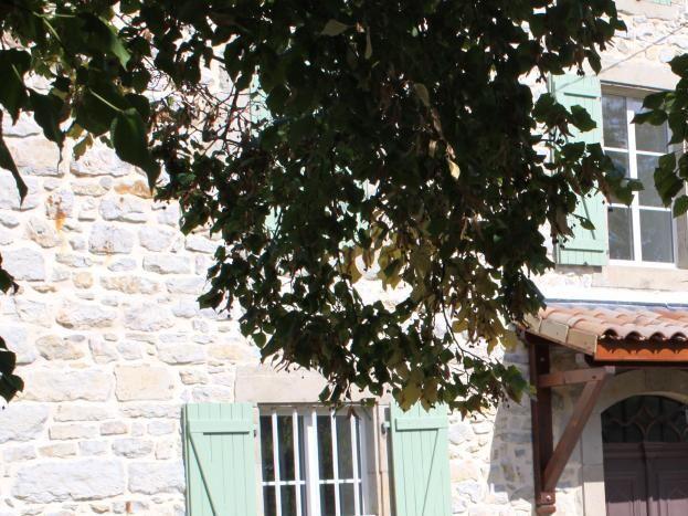 petit jardin devant la maison et terrasse
