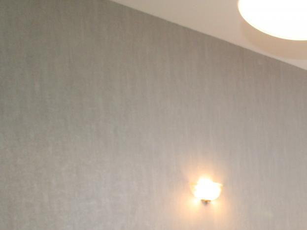 Chambre grise avec lit en 160