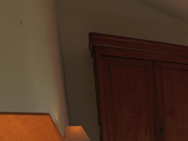 La chambre 3 (2 lits de 90 qui réunis offre un grand couchage de 180) dispose également d'un balcon donnant sur la terrasse