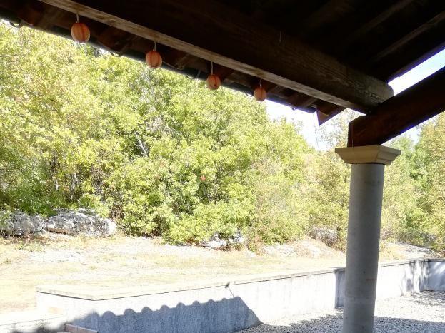 Terrasse et extérieur gîte Le Mistral