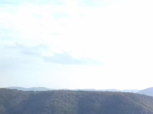 Paysage depuis le chemin de randonnée qui part depuis le gîte et rejoint les hauteurs