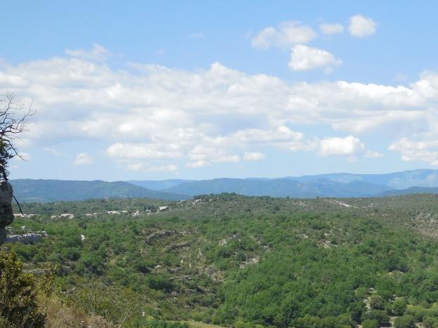 Vu en hauteur du hameau de Garel
