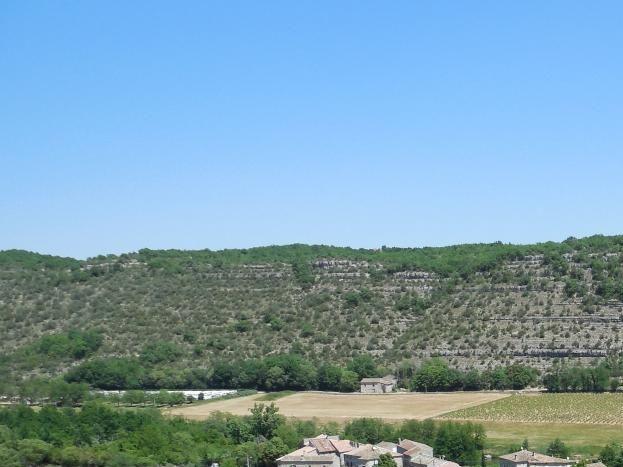 Le hameau de Garel vu des hauteurs