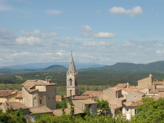 Vue du village de labastide de Virac