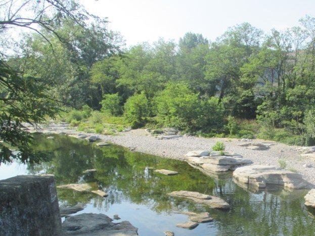 Rivière la Beaume à Rosières