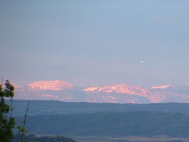 Par temps dégagé vue sur la chaîne du Mont Blanc