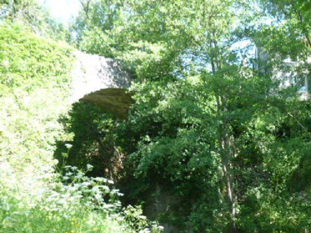 Vue de la rivière sous la maison