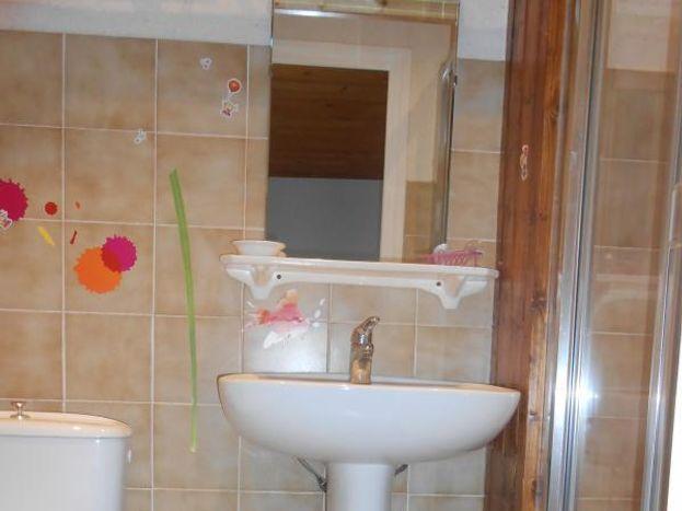 Douche, wc, lavabo de la chambre N°1.