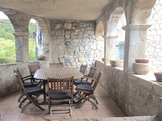 Terrasse Gîte le Couradou le Domaine du Viticulteur
