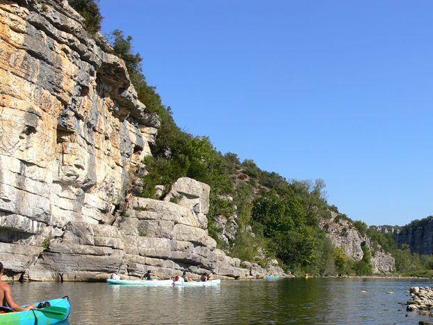l'Ardèche et ses balades en canoë