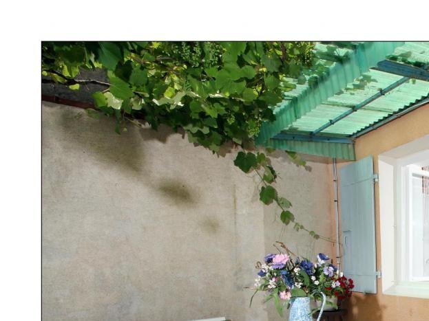 Terrasse avec vue sur l'intérieur