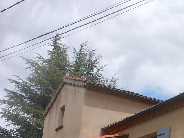 Vue sur la façade de la maison