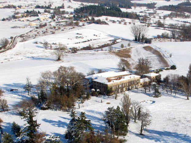 Le domaine du Peyron en hiver