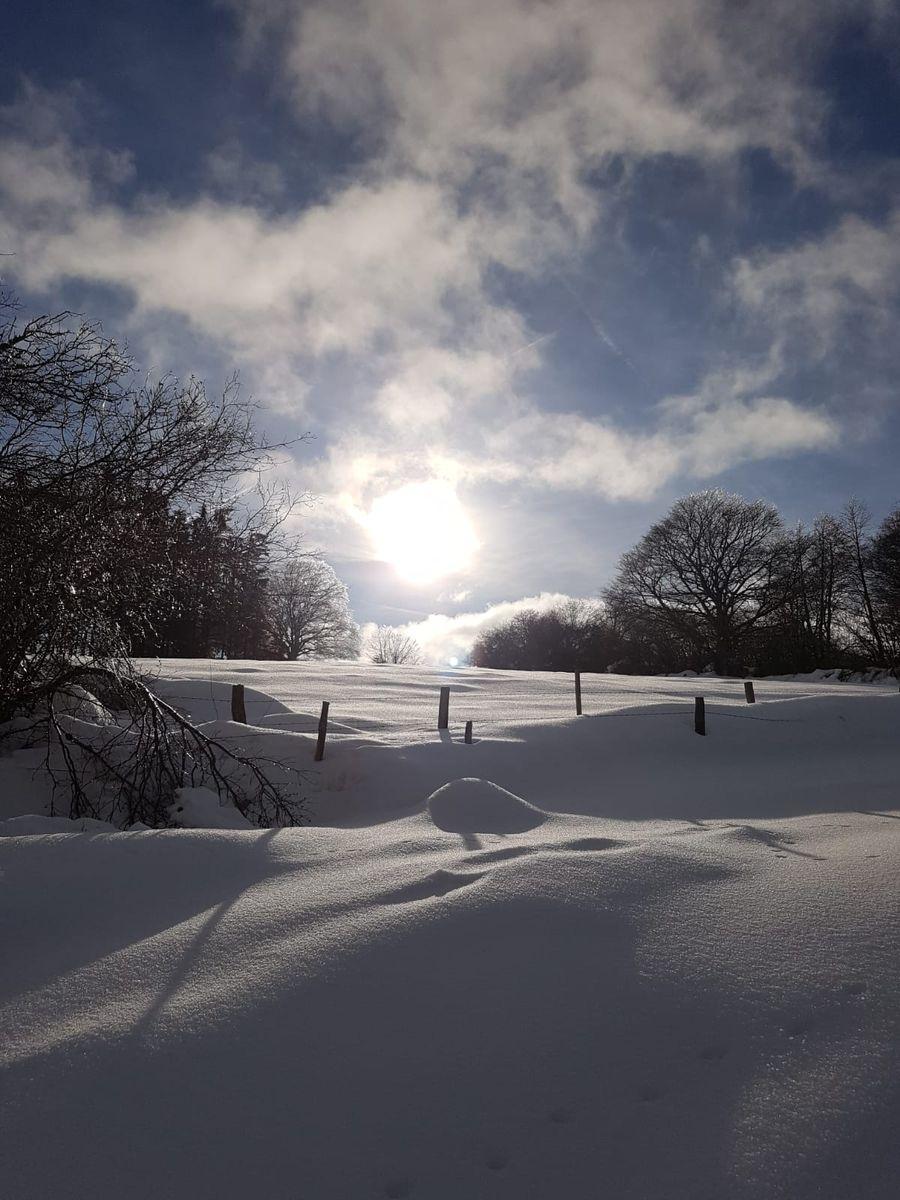 Un rayon de soleil sur la campagne environnante.