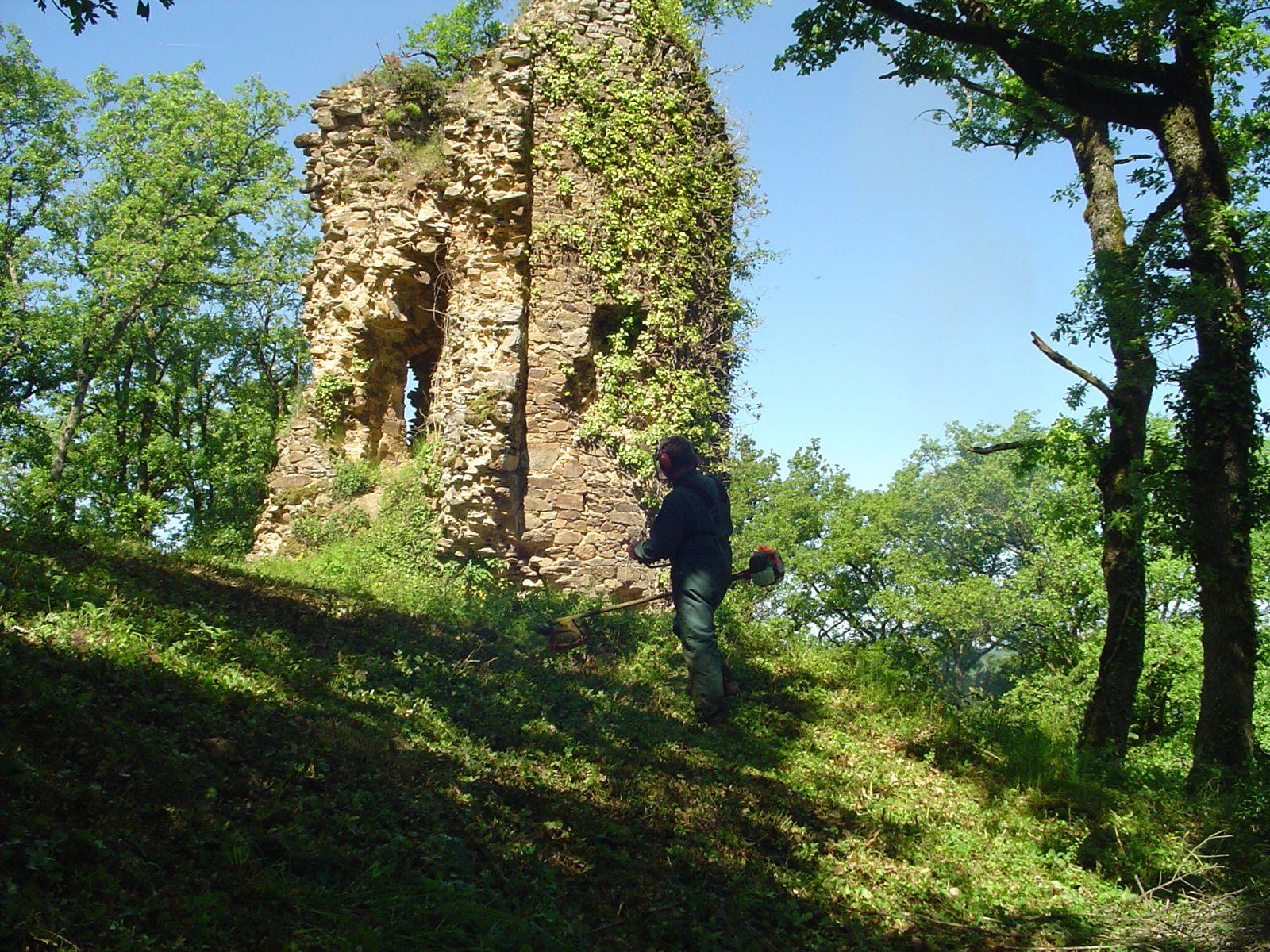 Ruine du château à Bar