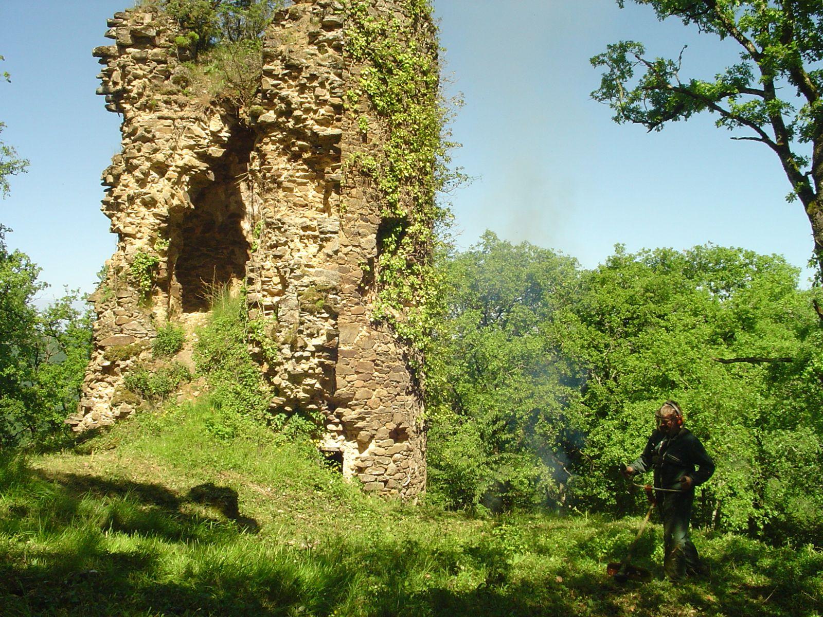Ruine de château à Bar