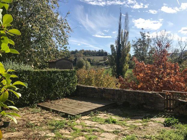 La terrasse à l'automne