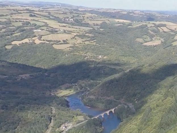 vue côté ouest du hameau filmé par drone