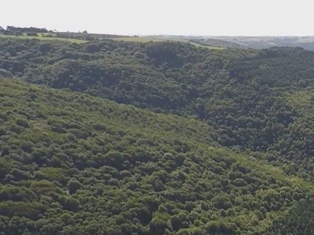 vue côté Est du hameau filmé par drone