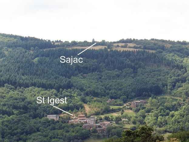 Vue Nord du hameau de Sajac