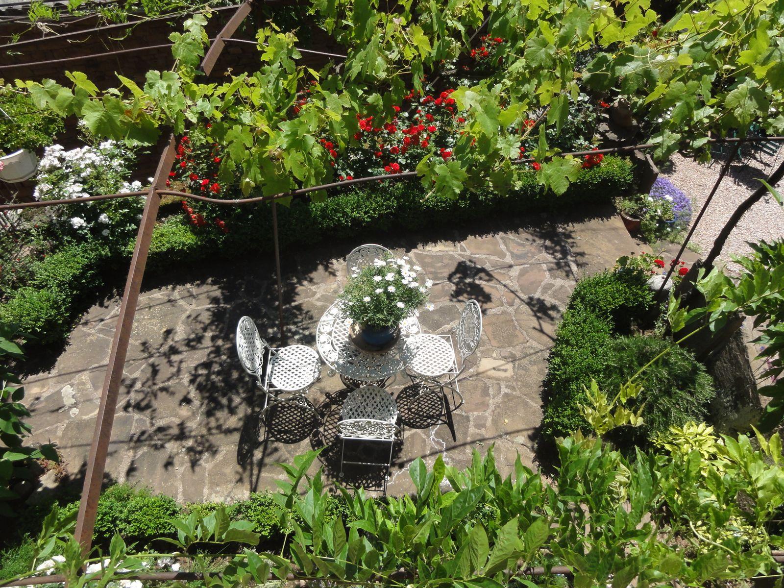 Le jardin vu d'en haut