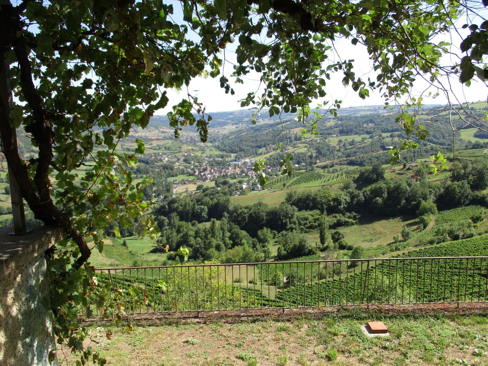 de la terrasse, découvrez ce panorama surplombant la vallée de l'Ady, au coeur du vignoble de Marcillac