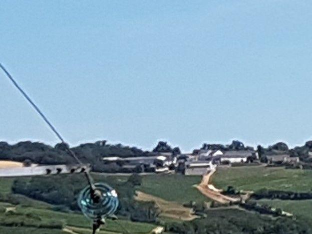 Vue de la maison, les collines de Champtin, Reigny et du Grance Senais