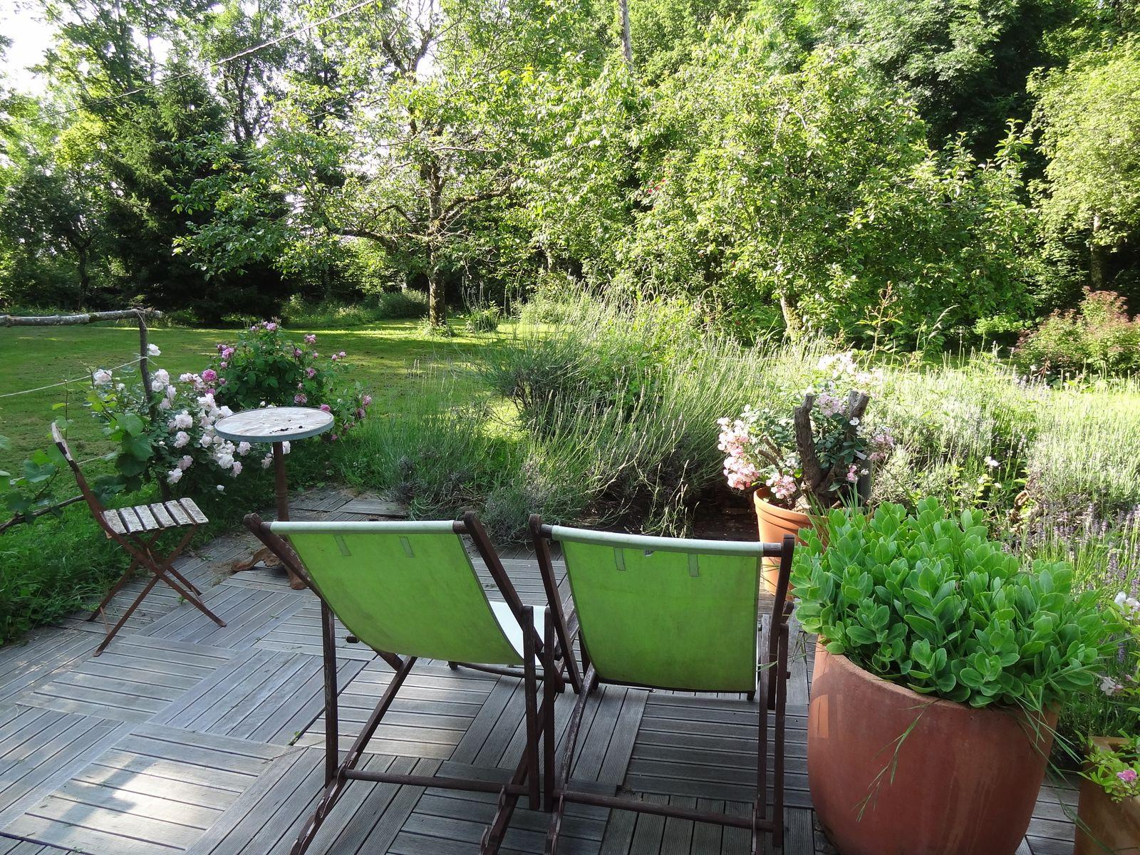 La terrasse de la chambre jardin
