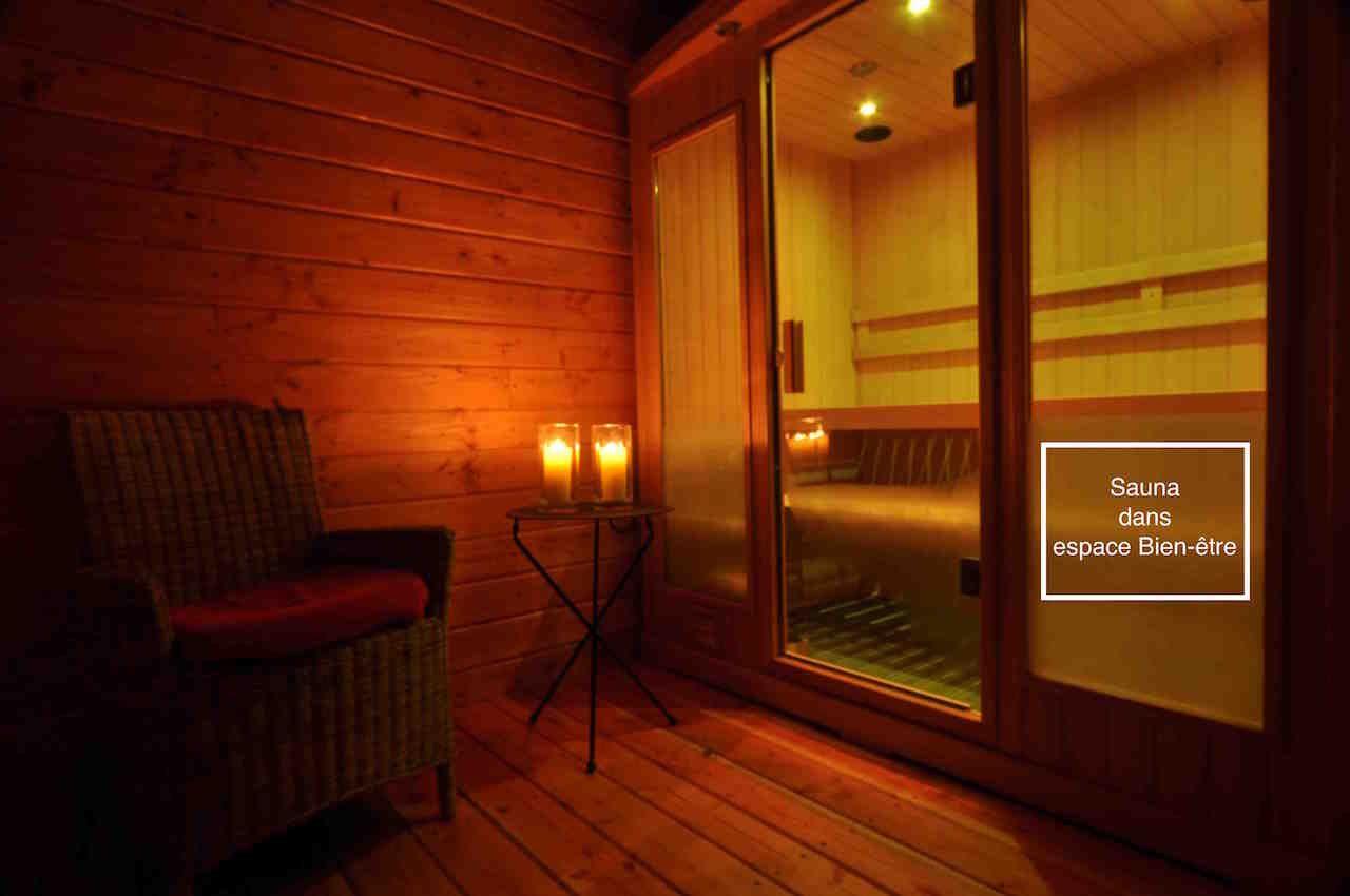 Sauna dans espace Bien-être  en option
