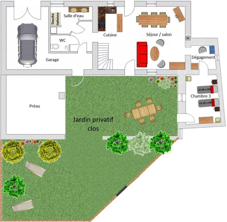 Rez-de-chaussée et jardin