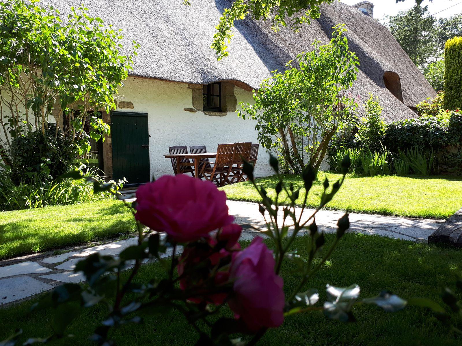 Terrasse et jardin clos